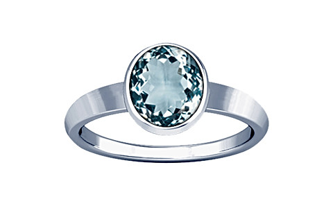 Aquamarine Sterling Silver Ring (R1)