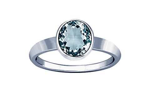 Aquamarine Sterling Silver Ring (R1)