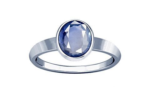 Blue Sapphire Sterling Silver Ring (R1)
