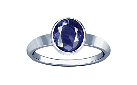 Blue Cubic Zirconia Sterling Silver Ring (R1)