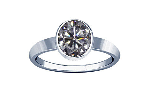 Cubic Zirconia Sterling Silver Ring (R1)