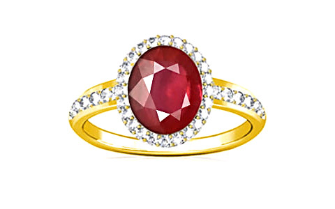 Ruby (India) Panchdhatu Ring (R1-Dazzle)