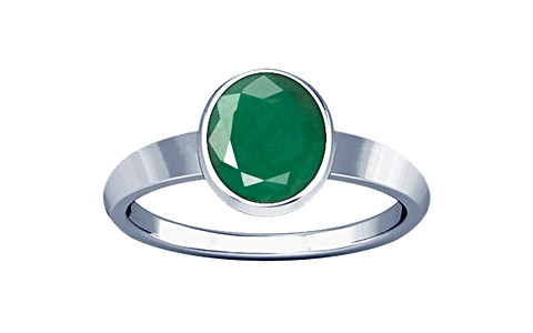 Emerald Sterling Silver Ring (R1)