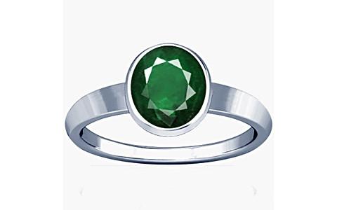 Emerald(Zambian) Sterling Silver Ring (R1)