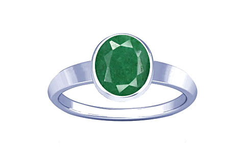Green Beryl Sterling Silver Ring (R1)