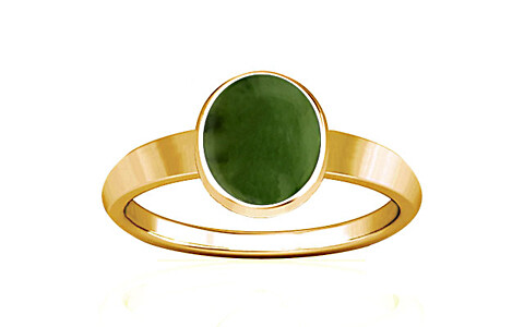 Nephrite Jade Gold Ring (R1)
