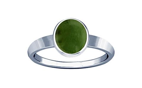 Nephrite Jade Sterling Silver Ring (R1)