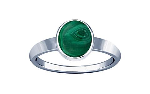 Malachite Sterling Silver Ring (R1)