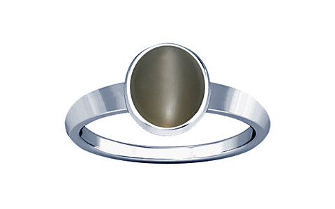 Gray Moonstone Sterling Silver Ring (R1)