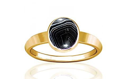 Striped Onyx Gold Ring (R1)