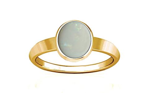 White Opal Gold Ring (R1)