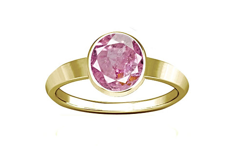 Pink Sapphire Gold Ring (R1)