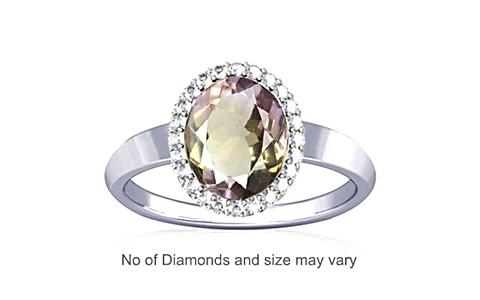 Ametrine Sterling Silver Ring (R1-Sparkle)