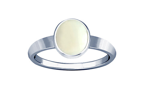White Coral Sterling Silver Ring (R1)