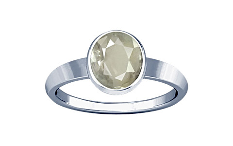 White Sapphire Sterling Silver Ring (R1)