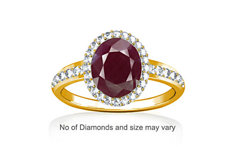 Ruby (India) Gold Ring (R1-Dazzle)