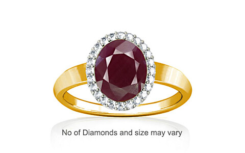 Ruby (India) Gold Ring (R1-Sparkle)