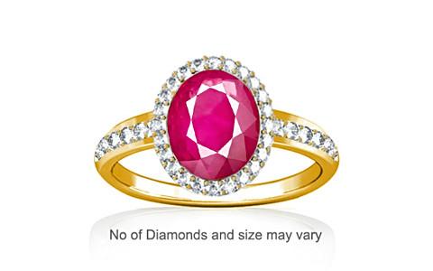 Ruby (Myanmar) Gold Ring (R1-Dazzle)