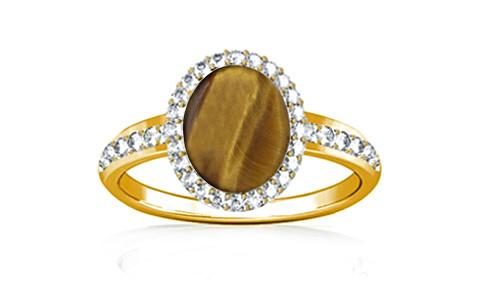 Tiger Eye Gold Ring (R1-Dazzle)