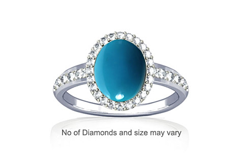 Turquoise Sterling Silver Ring (R1-Dazzle)