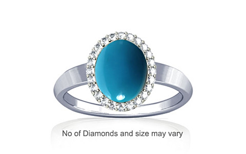 Turquoise Sterling Silver Ring (R1-Sparkle)