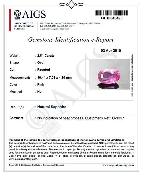 Pink Sapphire - 2.81 carats