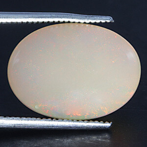 White Opal With Fire - 7.28 carats