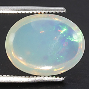 White Opal With Fire - 4.21 carats