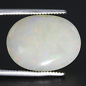 White Opal With Fire - 7.16 carats