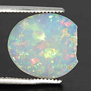 White Opal With Fire - 1.31 carats