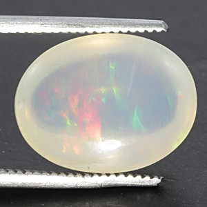 White Opal With Fire - 5.04 carats