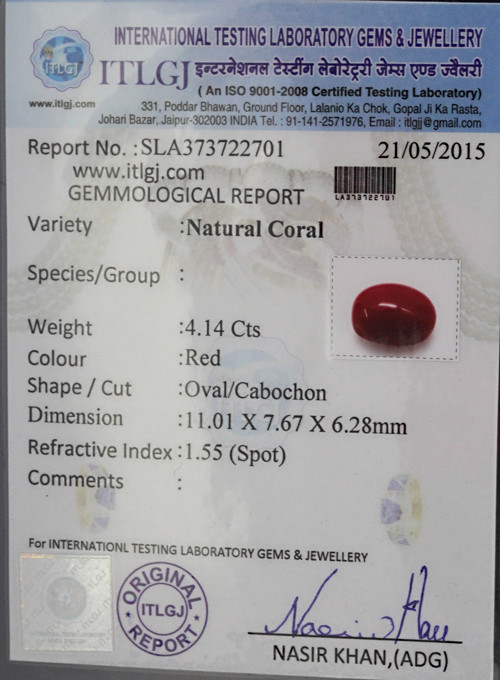 Red Coral - 4.14 carats