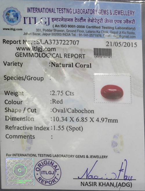 Red Coral - 2.75 carats