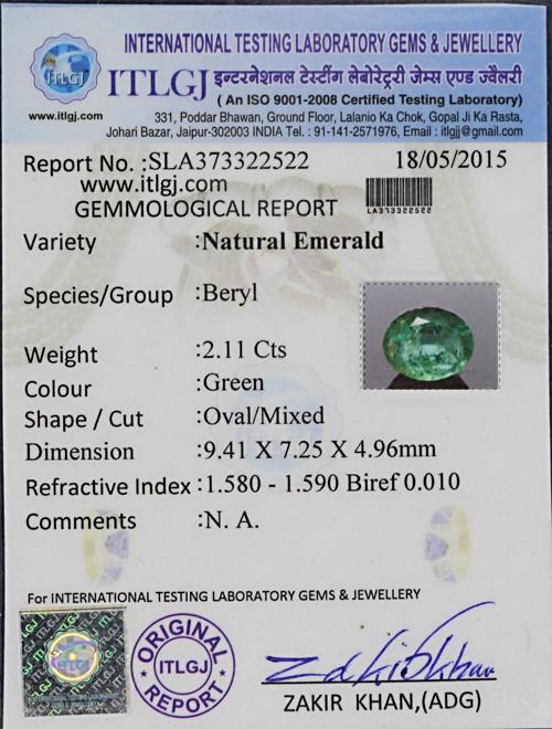 Emerald - 2.11 carats