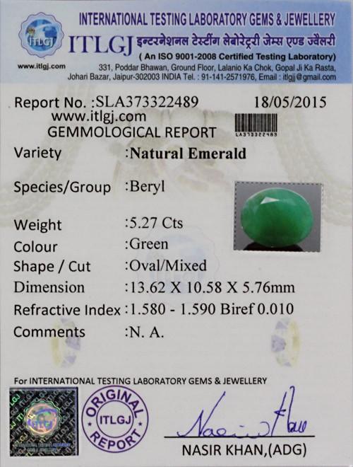 Emerald - 5.27 carats