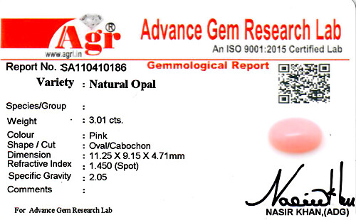 Pink Opal - 3.01 carats