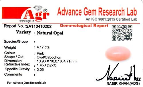 Pink Opal - 4.17 carats