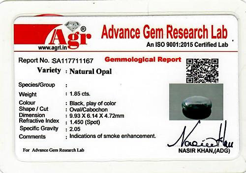 Black Opal - 1.85 carats