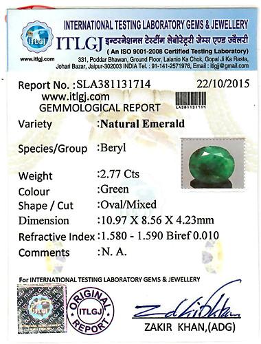 Emerald - 2.77 carats