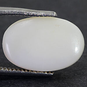 White Opal With Double Sided Fire - 4.48 carats