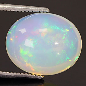 White Opal With Fire - 5.22 carats