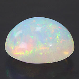 White Opal With Fire - 5.80 carats