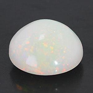 White Opal With Double Sided Fire - 4.72 carats