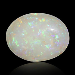 White Opal With Double Sided Fire - 9.11 carats