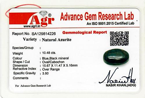 Azurite - 10.48 carats