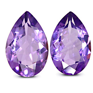 Amethyst Pair - 15.40 carats
