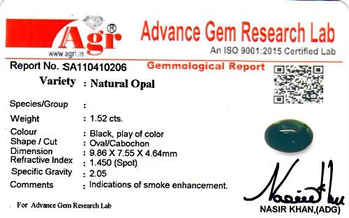 Black Opal - 1.52 carats