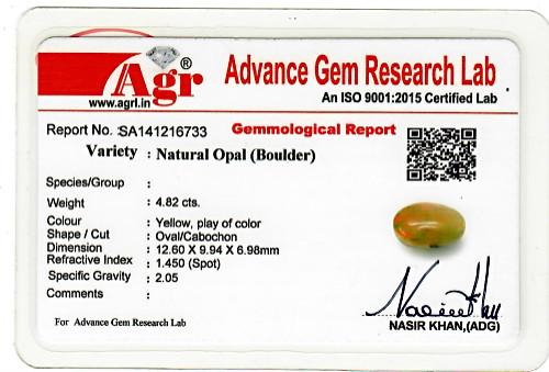 Yellow Opal - 4.82 carats
