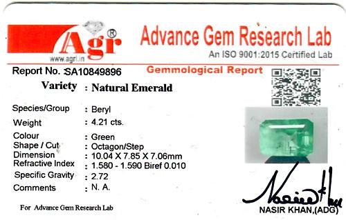 Emerald - 4.21 carats