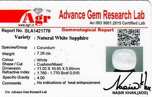 White Sapphire - 7.26 carats